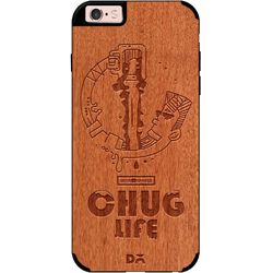Beer Chug Life Real Wood Red Chestnut Case For iPhone 6S
