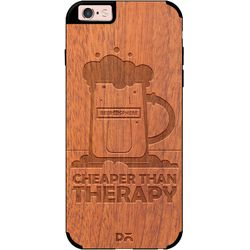 Beer Cheap Therapy Real Wood Sapele Case For iPhone 6S