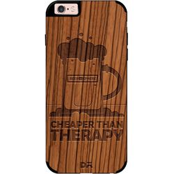 Beer Cheap Therapy Real Wood Zebra Case For iPhone 6S