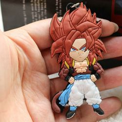 Dragon Ball Z Gogeta Goku Vegeta Super Saiyan 4 Keychain