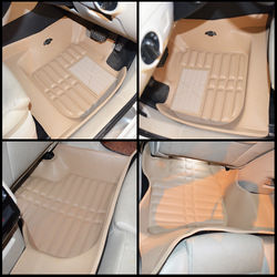 KMH Leatherite 5D Mats for Skoda  Superb (Beige)