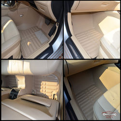 KMH Leatherite 5D Mats for  BMW 5 Series 2014 (Beige)