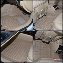 KMH Leatherite 5D Mats for Audi A6 2013 (Beige)