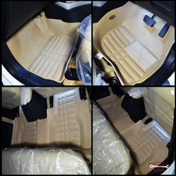 KMH Leatherite 5D Mats for Honda City (Beige)
