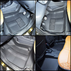 KMH Leatherite 5D Mats for Renault Kwid 2015 (Black)