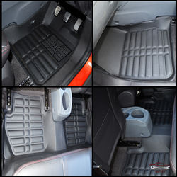 KMH Leatherite 5D Mats for ford Ecosport (Black)