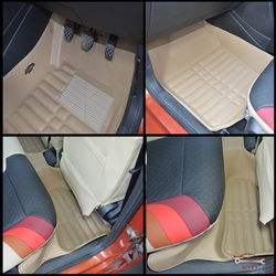 KMH Leatherite 5D Mats for Volkswagen Polo 2015 (Beige)