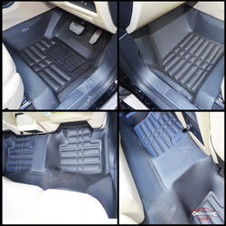 KMH Leatherite 5D Mats for Land Rover Freelander 2 (Black)