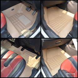 KMH Leatherite 5D Mats for Land Rover Evoque (Beige)