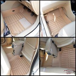KMH Leatherite 5D Mats for Maruti Suzuki Ciaz (Beige)