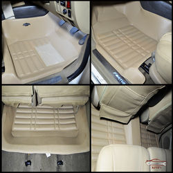 KMH Leatherite 5D Mats for Toyota fortuner (Beige)
