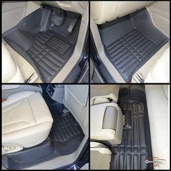 KMH Leatherite 5D Mats for Audi Q7 2012 (Black)