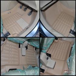 KMH Leatherite 5D Mats for Maruti Suzuki Ertiga (Beige)