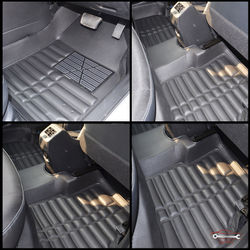 KMH Leatherite 5D Mats for Hyundai I10 Grand (Black)
