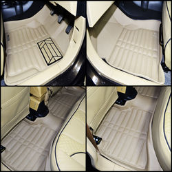 KMH Leatherite 5D Mats for Honda Amaze (Beige)