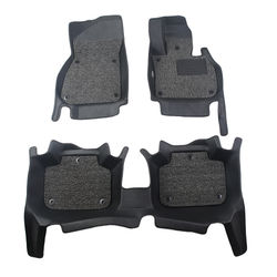 KMH 7D Leatherite Mats for Maruti Suzuki Brezza (Black) M/T