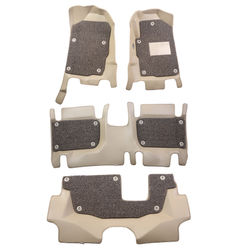 KMH 7D Leatherite Mats for Ford Endeavour (Beige)