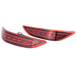 KMH Bumper Reflector for Honda City Lamborghini Style (2014-2017)-Red