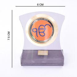 Heritage 24krt Gold Plates God Idol For Ekomkar-ACF Frame (Design-2)