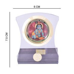 Heritage 24krt Gold Plates God Idol For Laddu Gopal -ACF Frame (Design-2)