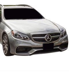 KMH AMG Grill For Mercedes C Class (W 205) (Silver Black)