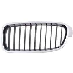 KMH OEM Replacement Grill For BMW 3 Series F30/F35(Outer Chrome with Chrome & Black Fins)(Set Of 2Pcs)