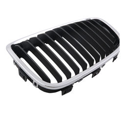 KMH OEM Replacement Grill For BMW 1 Series F20 -Set Of 2Pcs (Outer Chrome with Black Fins)