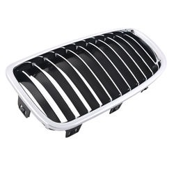 KMH OEM Replacement Grill For BMW 5 Series GT F07(Outer Chrome with Chrome N Black Fins)(Set Of 2Pcs)