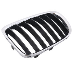KMH OEM Replacement Grill For BMW X1 (E84) -Set Of 2Pcs (Outer Chrome with Black Fins)