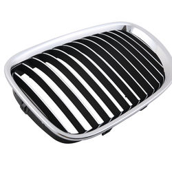 KMH OEM Replacement Grill For BMW 7 Series F02 (Outer Chrome with Chrome & Black Fins)(Set Of 2Pcs)