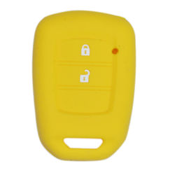 KMH Silicone Key Cover for Honda City 2014- 2 Button Flip Key (Yellow)