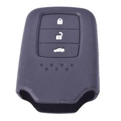 KMH Silicone Key Cover for Honda City 2014 3 Button Smart Key (Black)