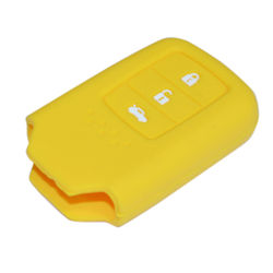 KMH Silicone Key Cover for Honda City 2014- 3 Button Smart Key (Yellow)