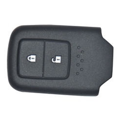 KMH Silicone Key Cover Fit for Honda 2 Button -(Black)