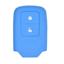 KMH Silicone Key Cover Fit for Honda 2 Button -(Blue)
