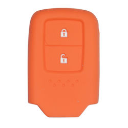 KMH Silicone Key Cover Fit for Honda 2 Button -(Orange)
