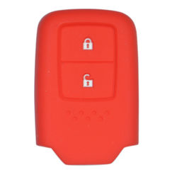 KMH Silicone Key Cover Fit for Honda 2 Button -(Red)