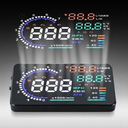 KMH A8 5.5 inch Car HUD Head Up Display Windscreen Projector with Speed Warning RPM MPH- Black