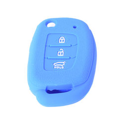 KMH New Silicone Key Cover Fit for Xcent Flip Key Remote (Blue)