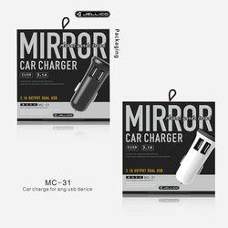 KMH Jellico Dual Ports USB (MC-31) Car Charger- Black
