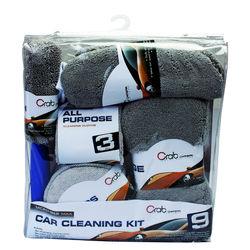 Crab 9 Pcs Car Cleaning Kit (FLD-9PCK)-5017403077091