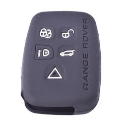 KMH 5 Buttons Silicone Key Cover for Land Rover (Black)