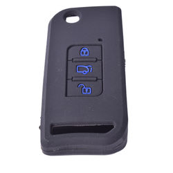 KMH Silicone Key Cover Fit for Mahindra Xuv500 Flip Key (Black with Blue)