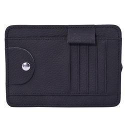 Car Visor Organizer Sun Shade Card Storage Holder Pouch Bag Sunglasses Storage (BLACK)