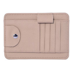Car Visor Organizer Sun Shade Card Storage Holder Pouch Bag Sunglasses Storage (BEIGE)