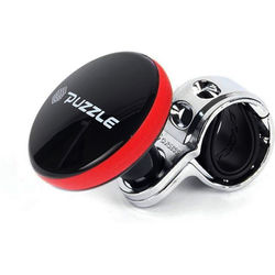 KMH Puzzle Car Steering Wheel knobs Black with Red (8805341012055)