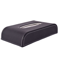 KMH Tissue Box -50 Pulls (100 Sheets)-1 Ply (Black) For Skoda Rapid