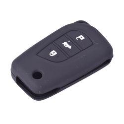 KMH Flip Key Cover for Toyota Innova Crysta (Black)