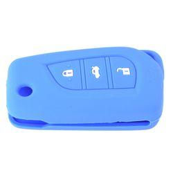 KMH Flip Key Cover for Toyota Innova Crysta ( Blue)