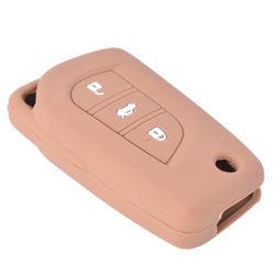 KMH Flip Key Cover for Toyota Innova Crysta (Brown)